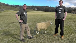 Ben and Tim Berry with Shirley the Sheep