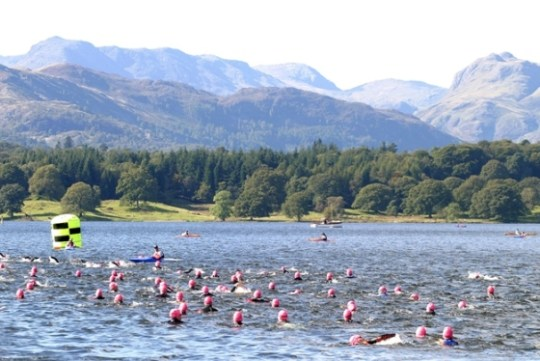 The Great North Swim in Windermere