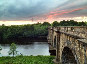 Lune Aqueduct carries the Lancaster Canal over the river Lune