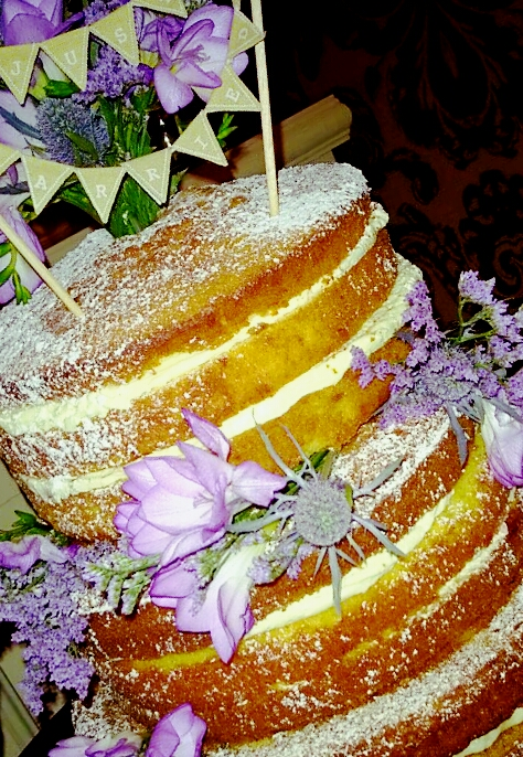 Wedding cake baked for a colleague