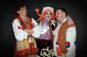 Pippa as Jack with his mother and brother