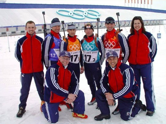 Ian with the 2002 Winter Olympic team