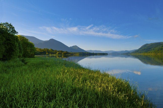 Bassenthwaite Lake in the English Lake District
