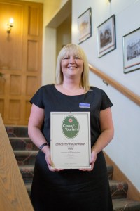 Emma Underwood with our Gold Green Tourism Award
