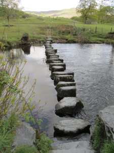 Stepping Stones over River Rothay ( Credit: Wikimedia)