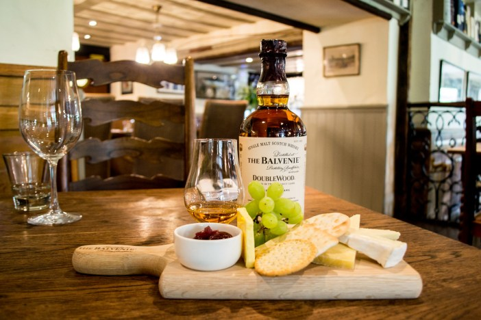 The Balvenie with cheese paring at The Wild Boar