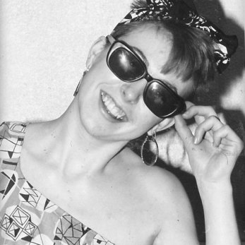 Carol, aged 18, wearing, upcycling, collecting and dealing in Vintage as a hobby in Nottingham in the early 1980's
