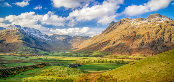 Langdale Pikes looking towards Bow Fell, The Lake District
