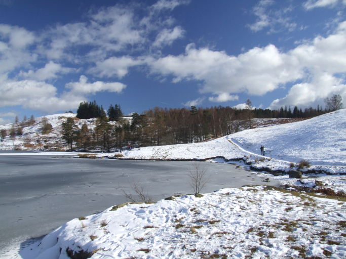 Tarn Howes in Snow