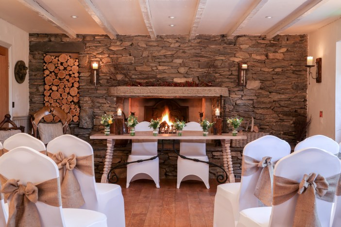 Log fire, candles, slate and beams in The Wild Boar's new intimate Undermillbeck