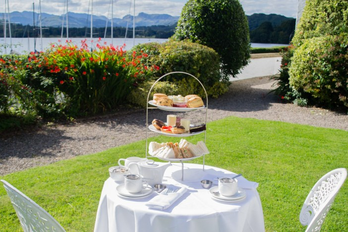 Afternoon Tea in the gardens of Low Wood Bay