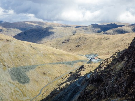 Views back towards the Honister Visitors Centre