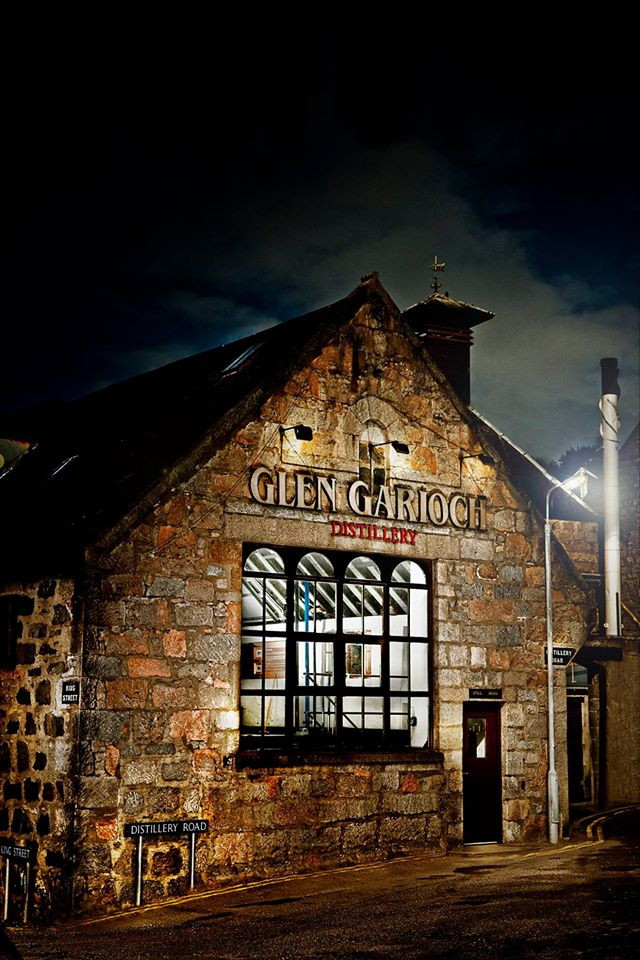Glen Garioch Distillery at night / Glen Garioch Fcebook