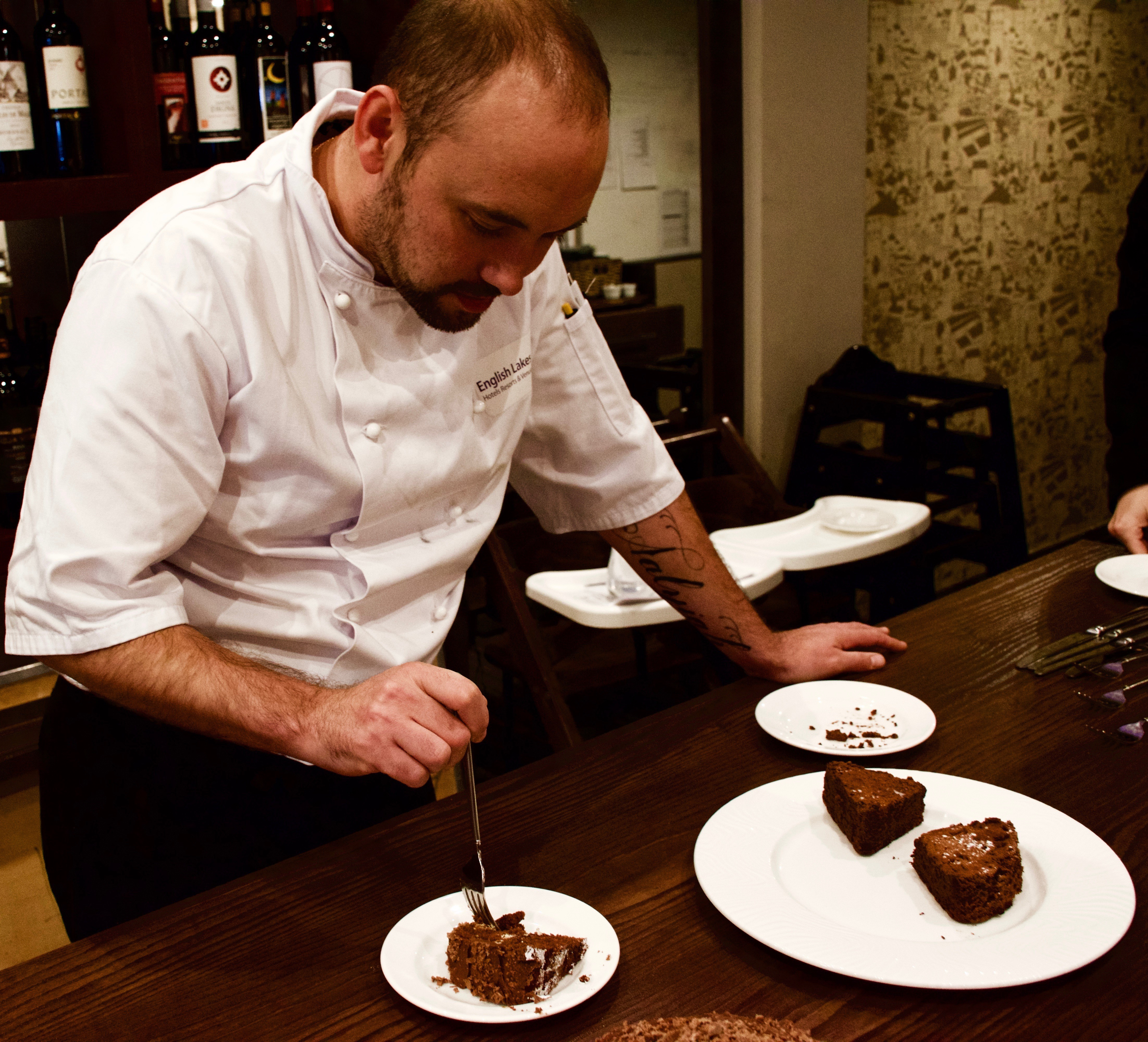 Head Chef, Damian, gets the pleasure of tasting all the entries. They were so tasty he ate the lot!