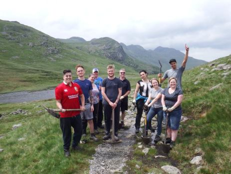 A Team from English Lakes volunteer to Fix the Fells