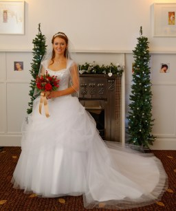 Claire's Beautiful dress with Red Bouquet