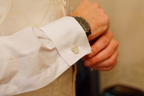 Mickey cufflinks to go with our Disney theming