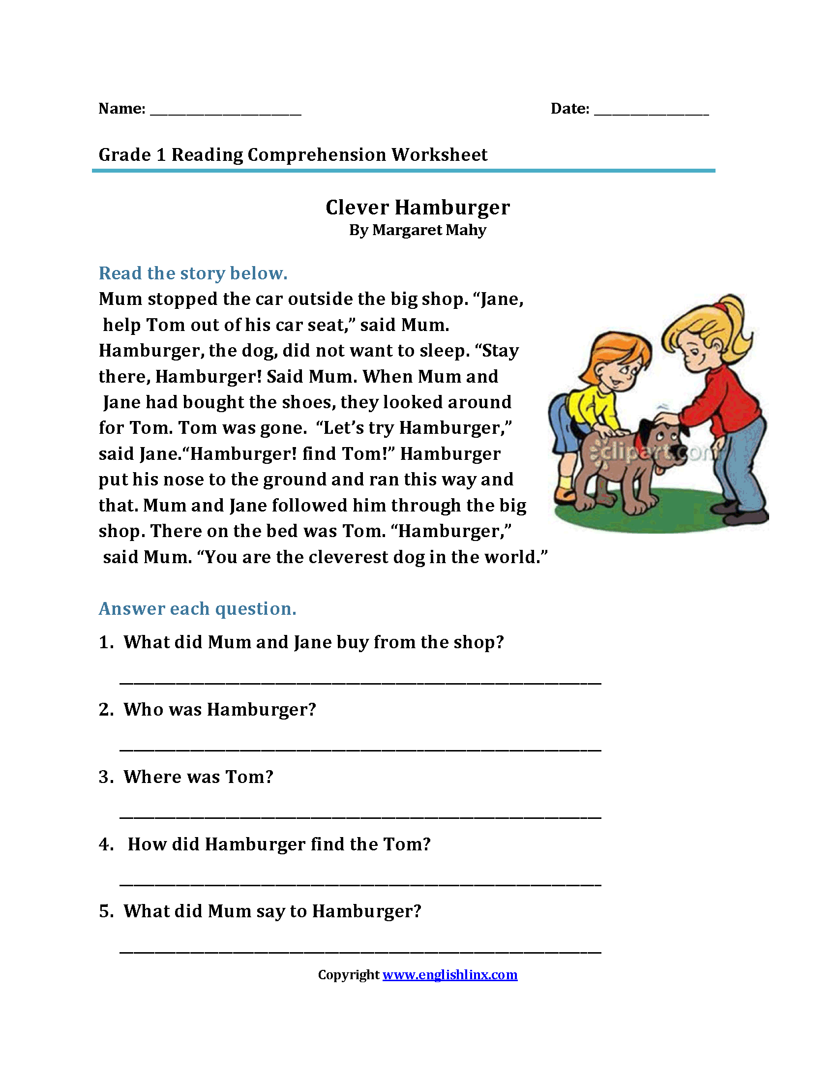 Model 1st Grade Addition Worksheet