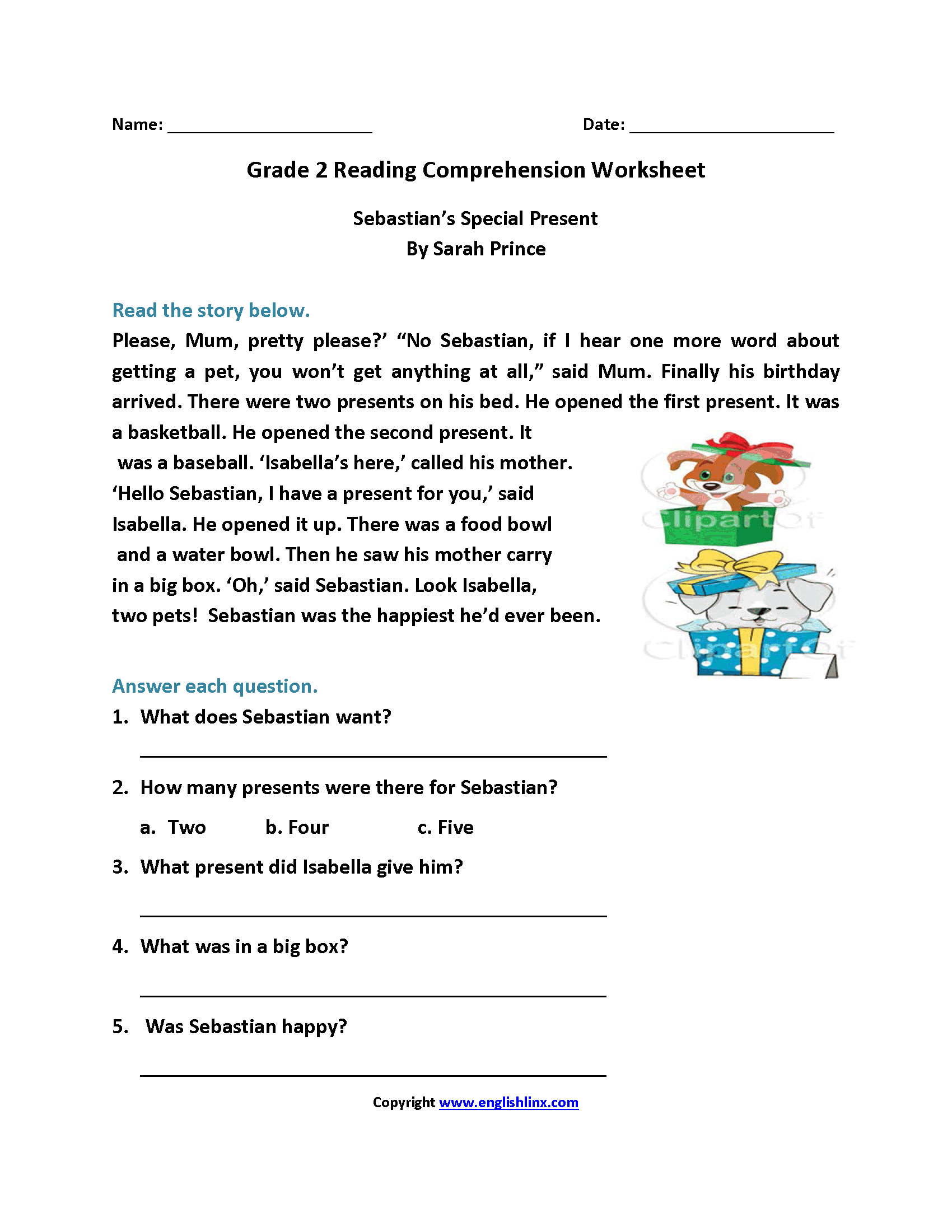 The Best Free Printable Reading Comprehension Worksheets
