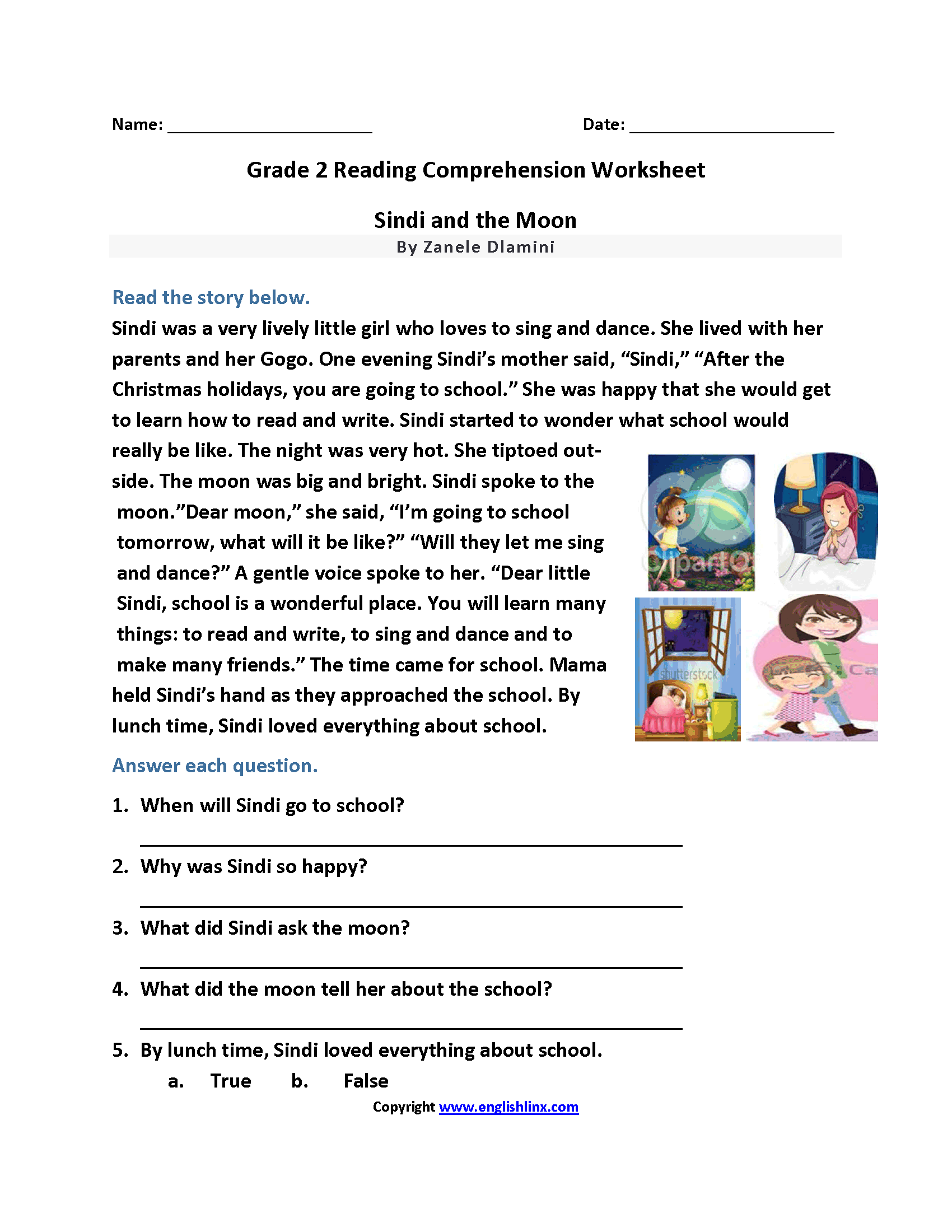 Printables Of Second Grade Reading
