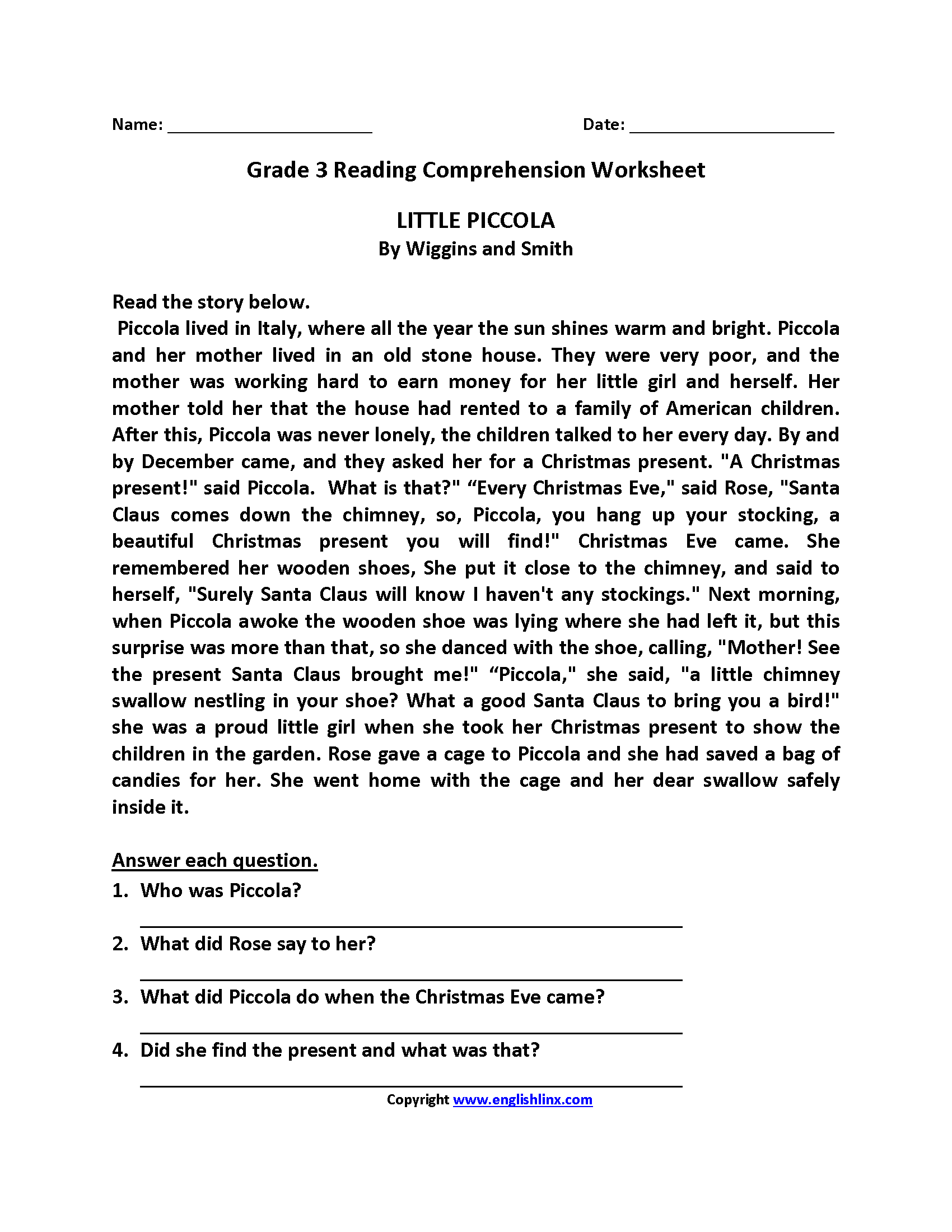 Third Grade Line Plot Worksheet