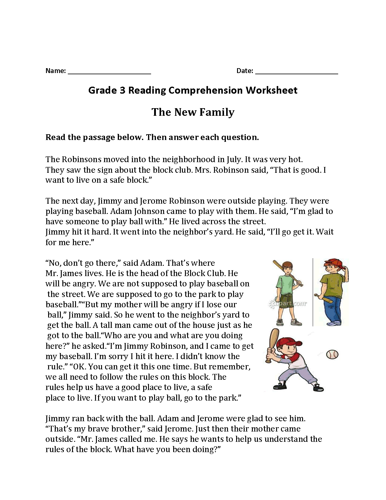 Worksheet For 3rd Grade Social Stu S
