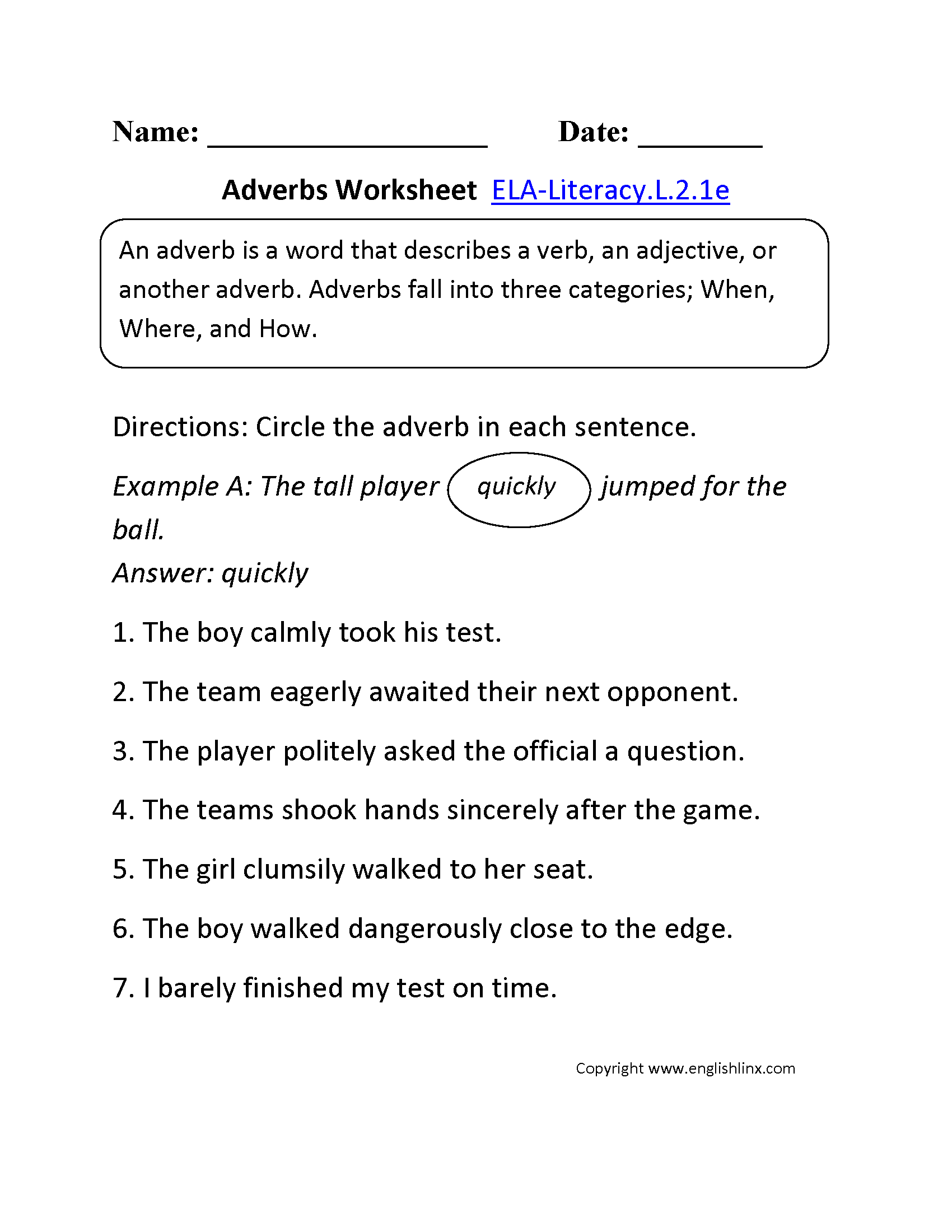 Worksheet Adverb Worksheets 4th Grade Grass Fedjp