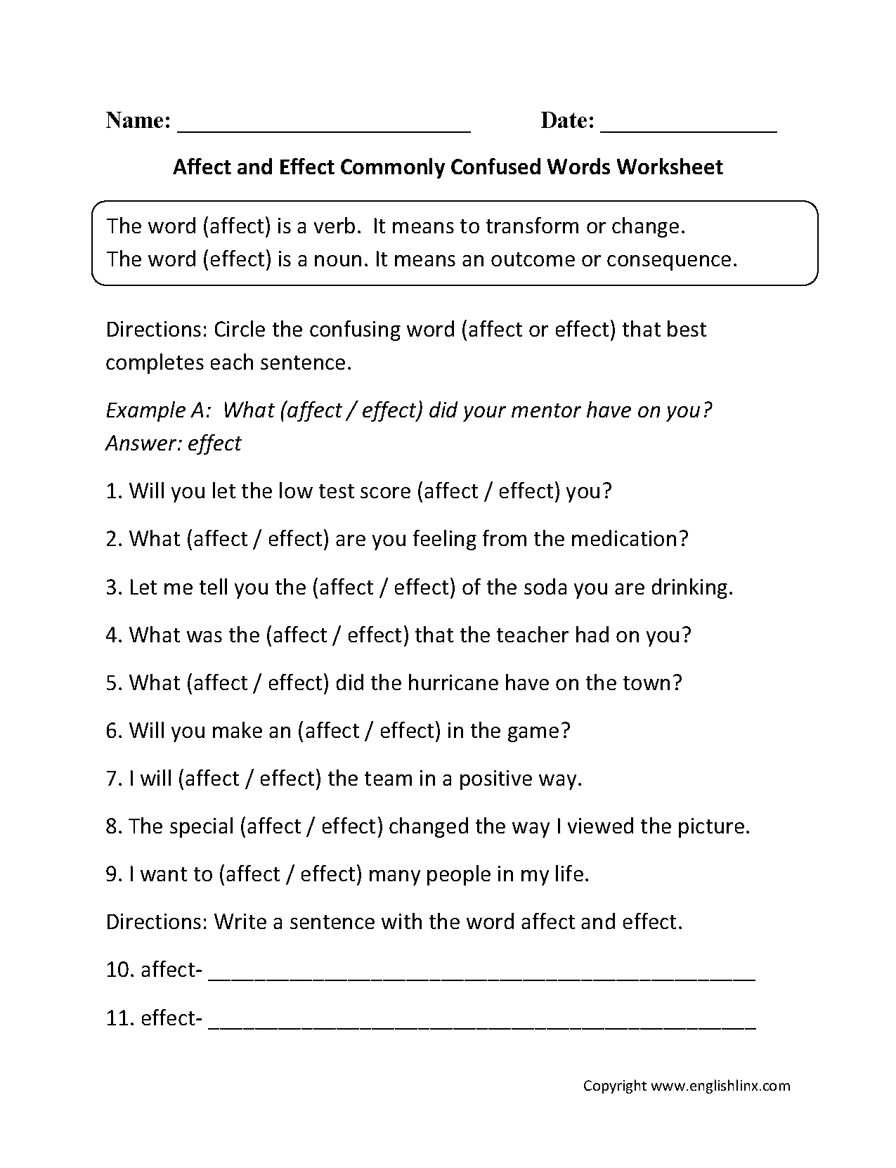 Worksheet Cause And Effect Worksheets 6th Grade
