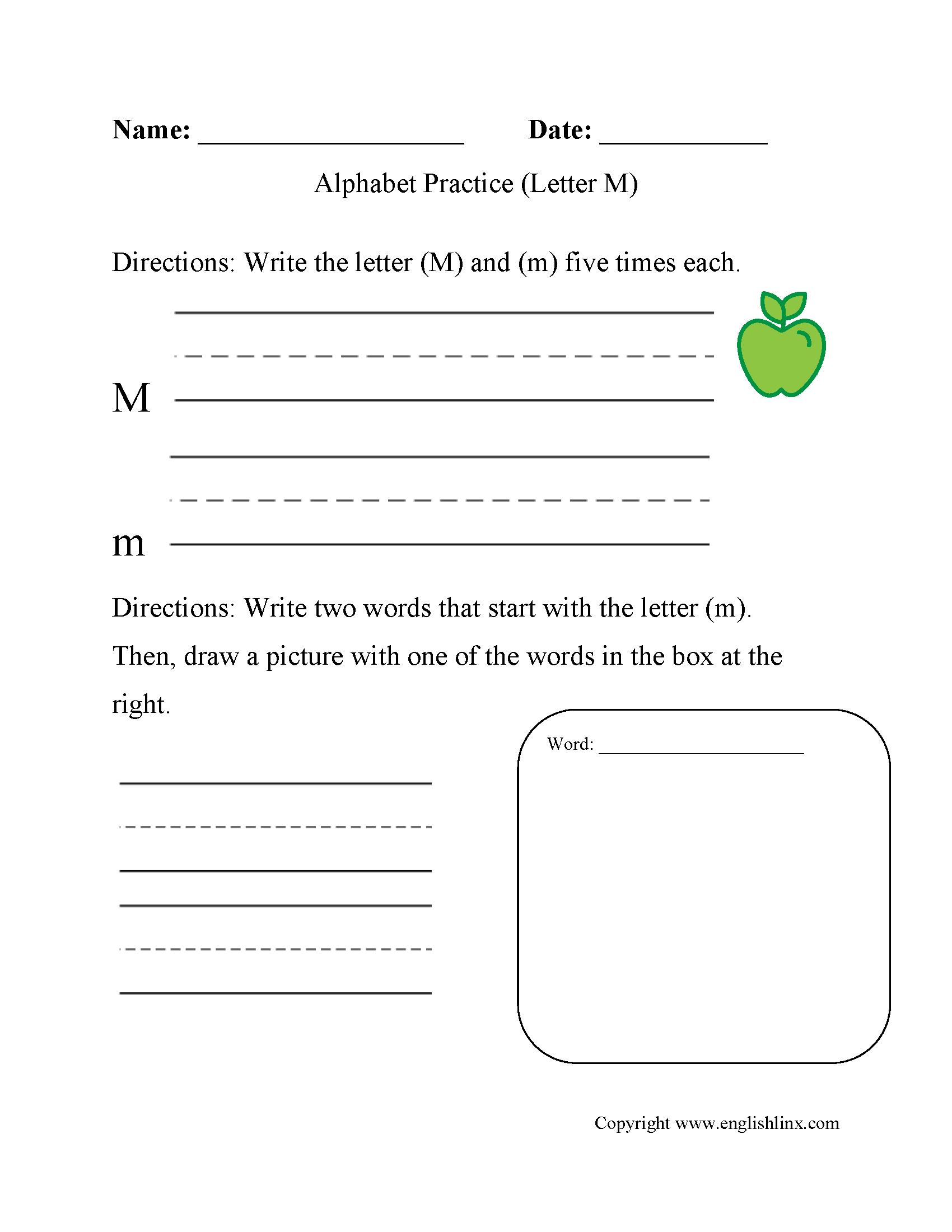 Alphabet Worksheets