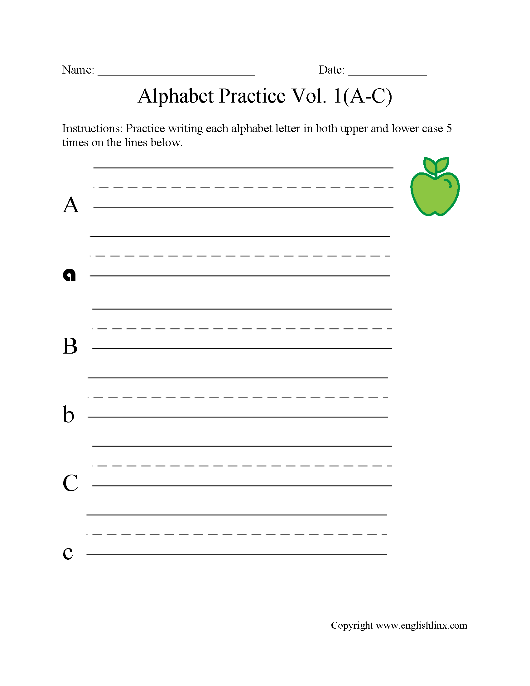Alphabet Worksheets English Worksheets Images
