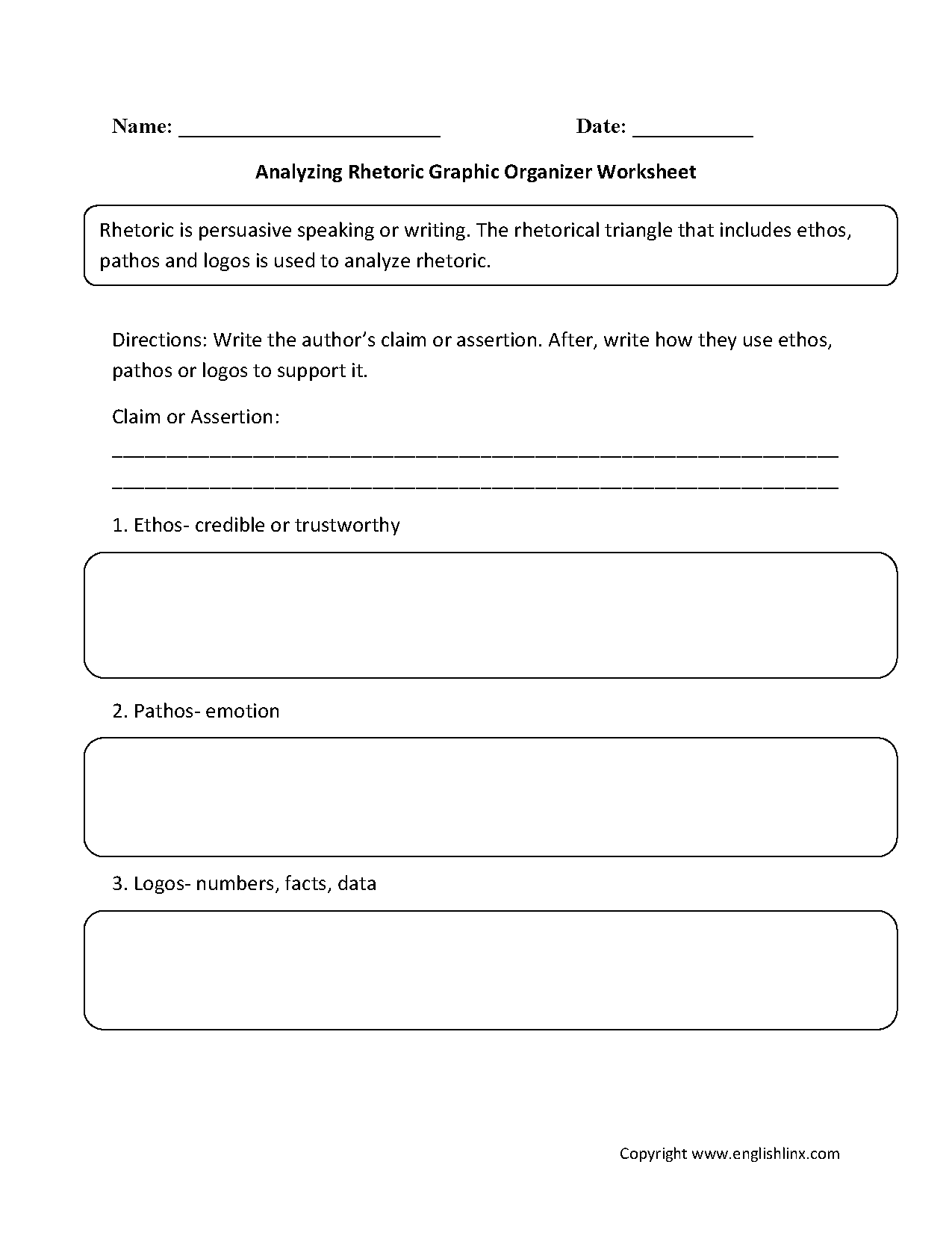 Graphic Organizers Worksheets