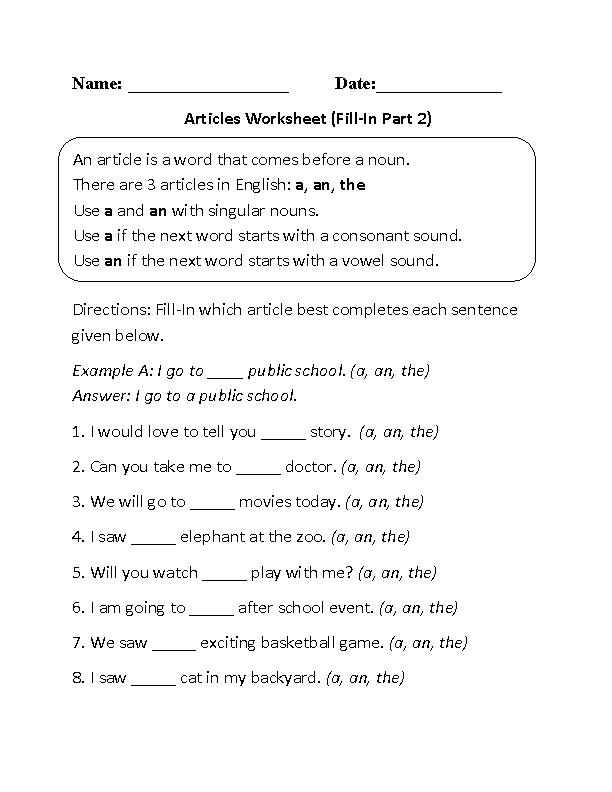 Englishlinx Com Articles Worksheets