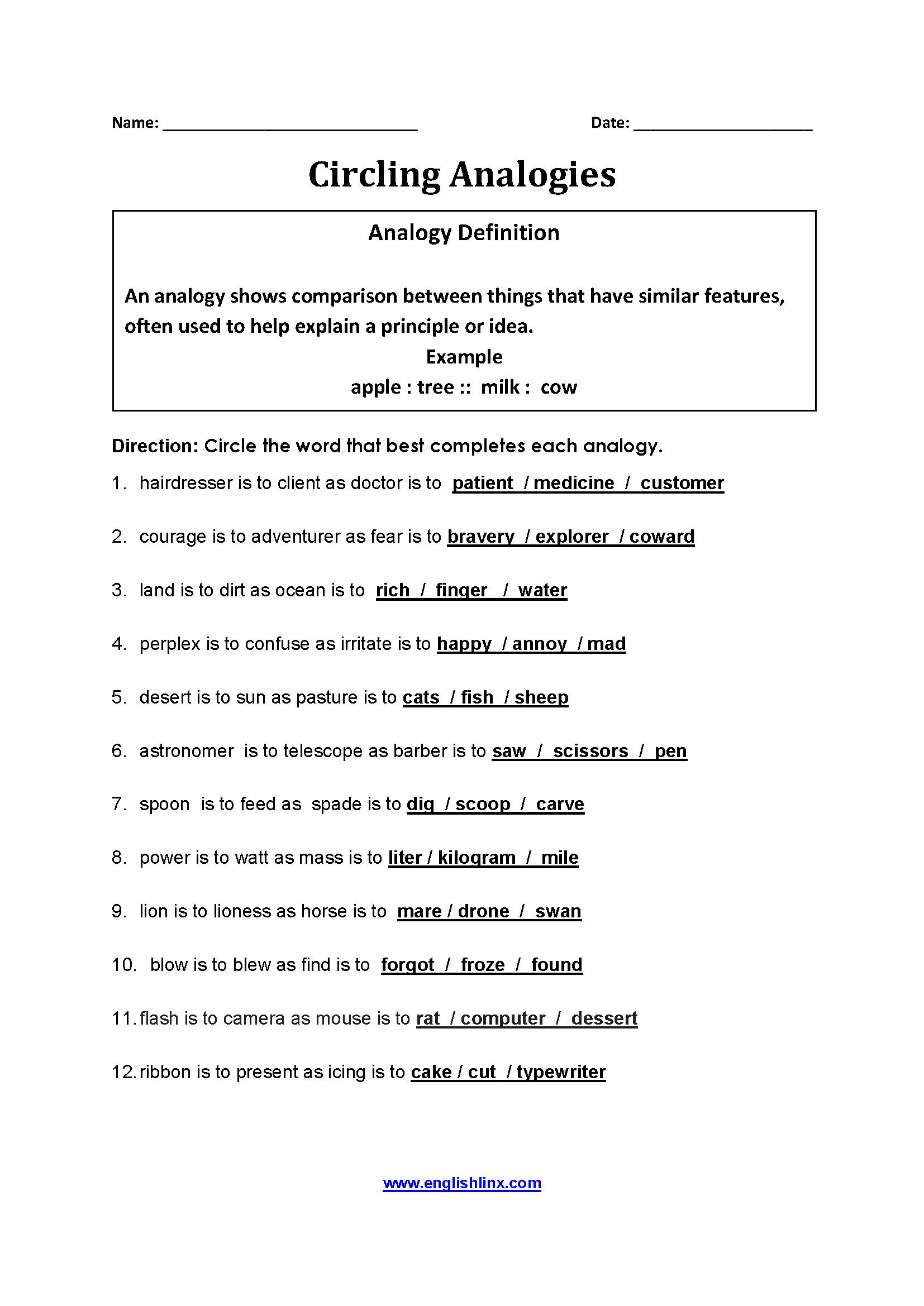 7th Gradeogies Worksheet