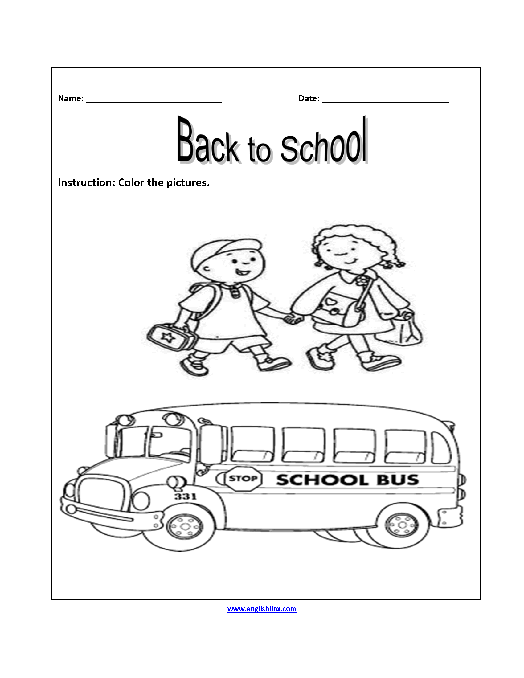 Back To School Worksheets For 5th Graders