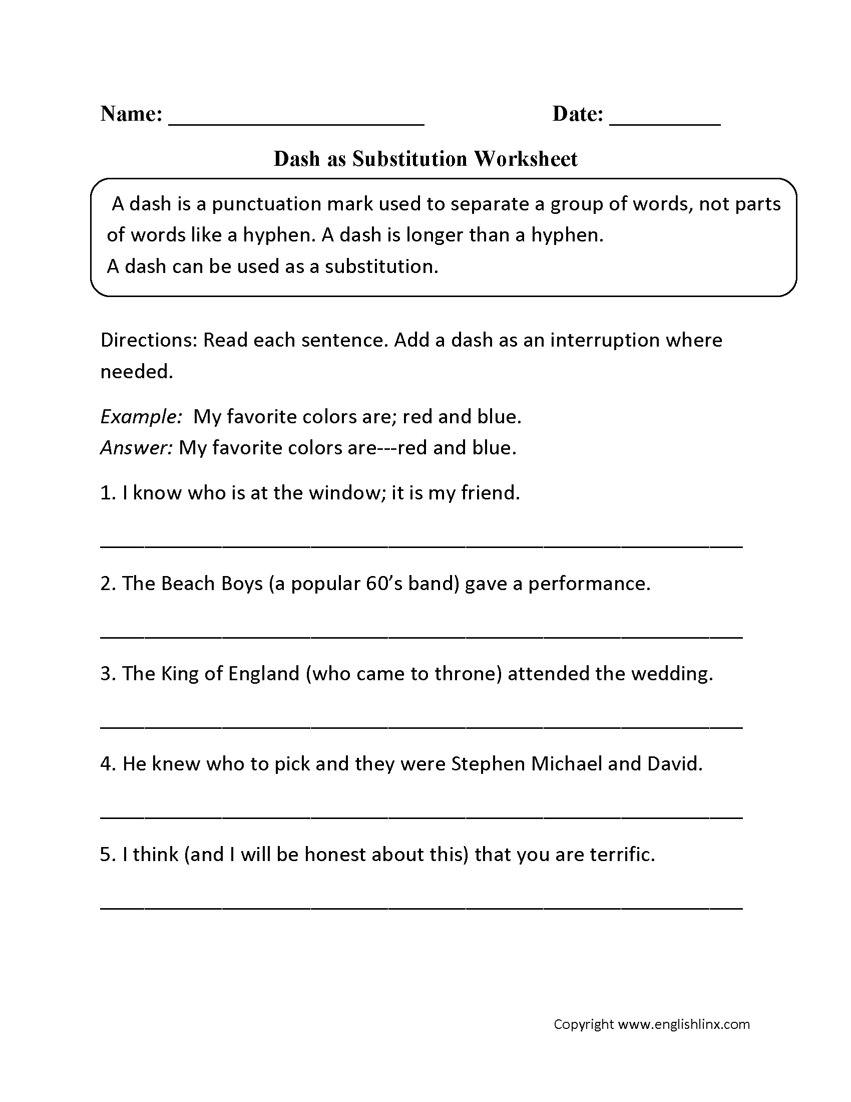 Dependent Clause Worksheet High School