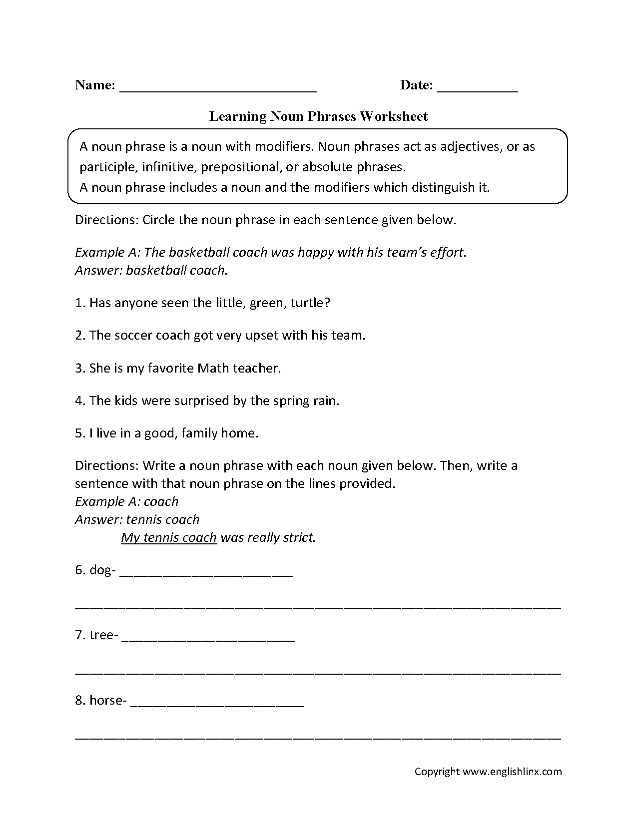 Worksheet On Adverb Clauses With Answers