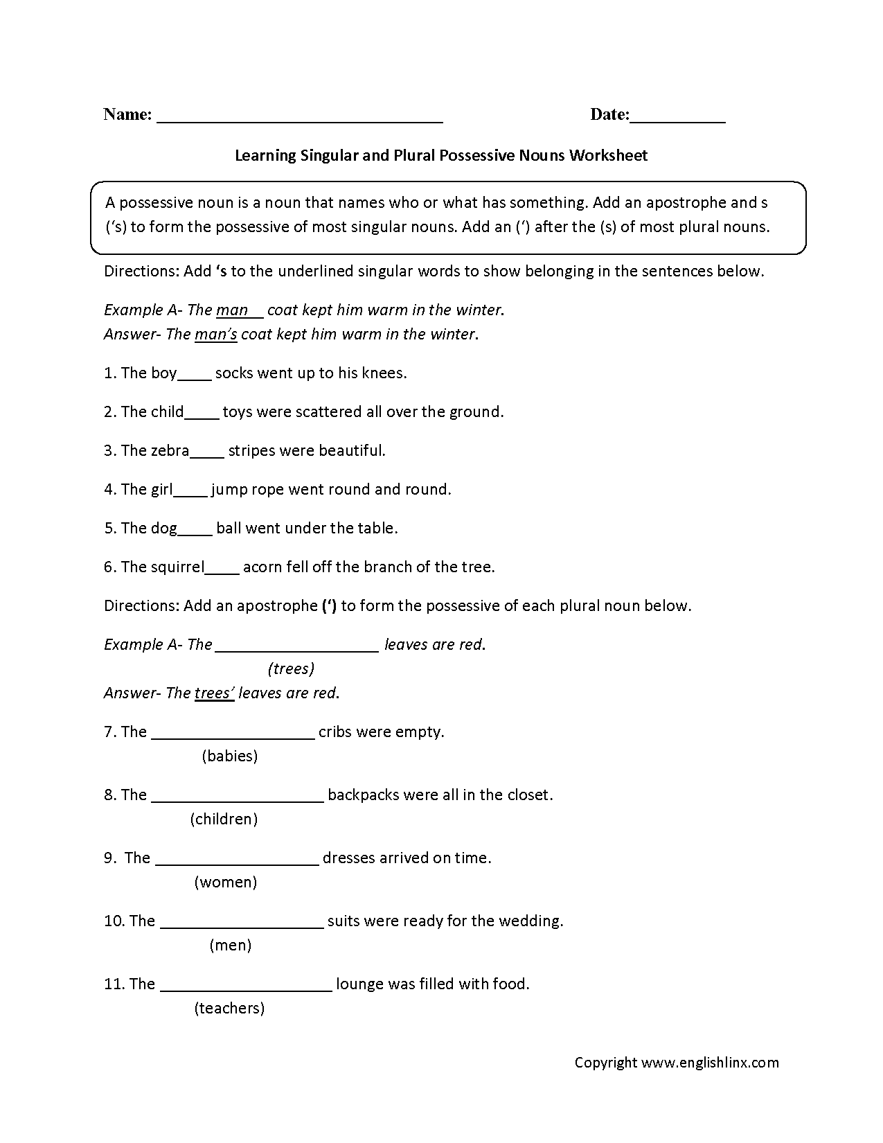 Pronoun Case Worksheet With Answers