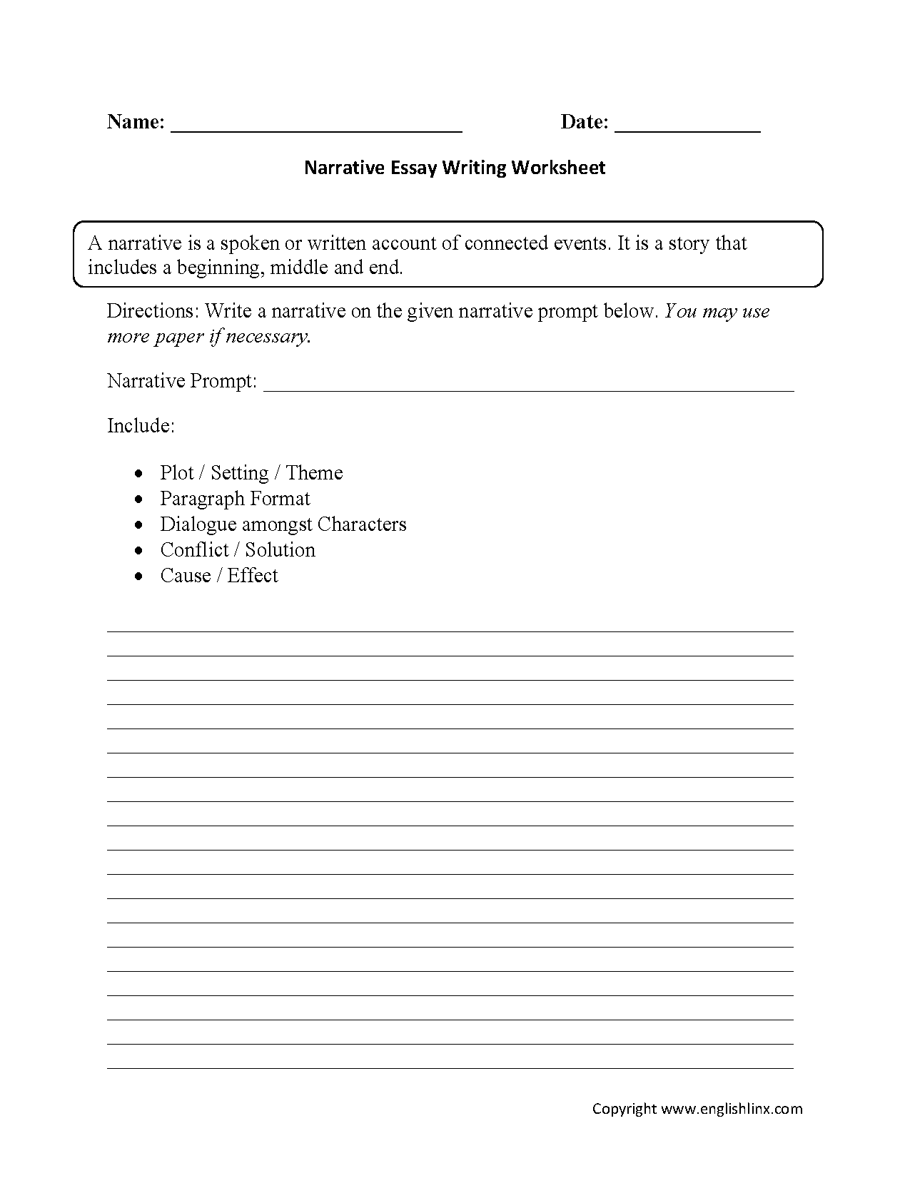Map 12th Grade English Worksheets