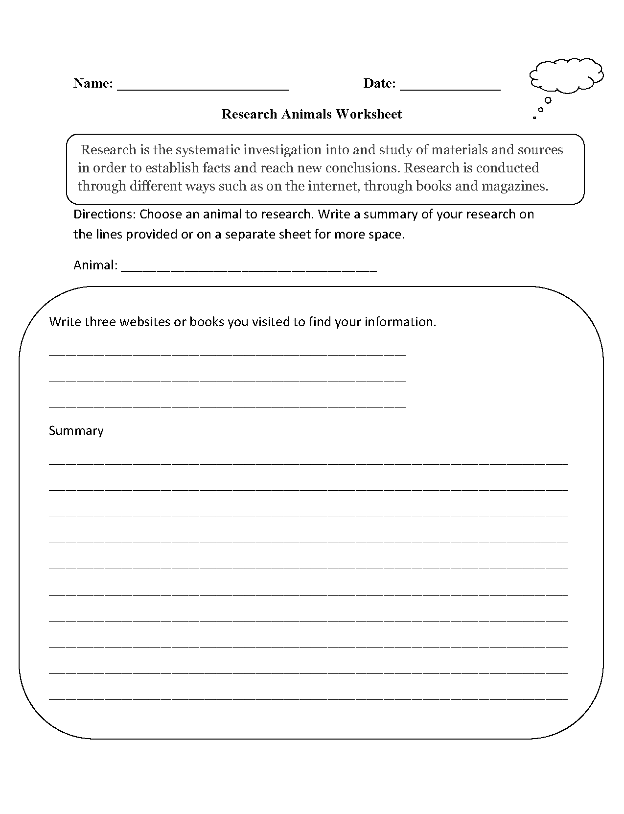 Animal Worksheet New 439 Animal Research Worksheet