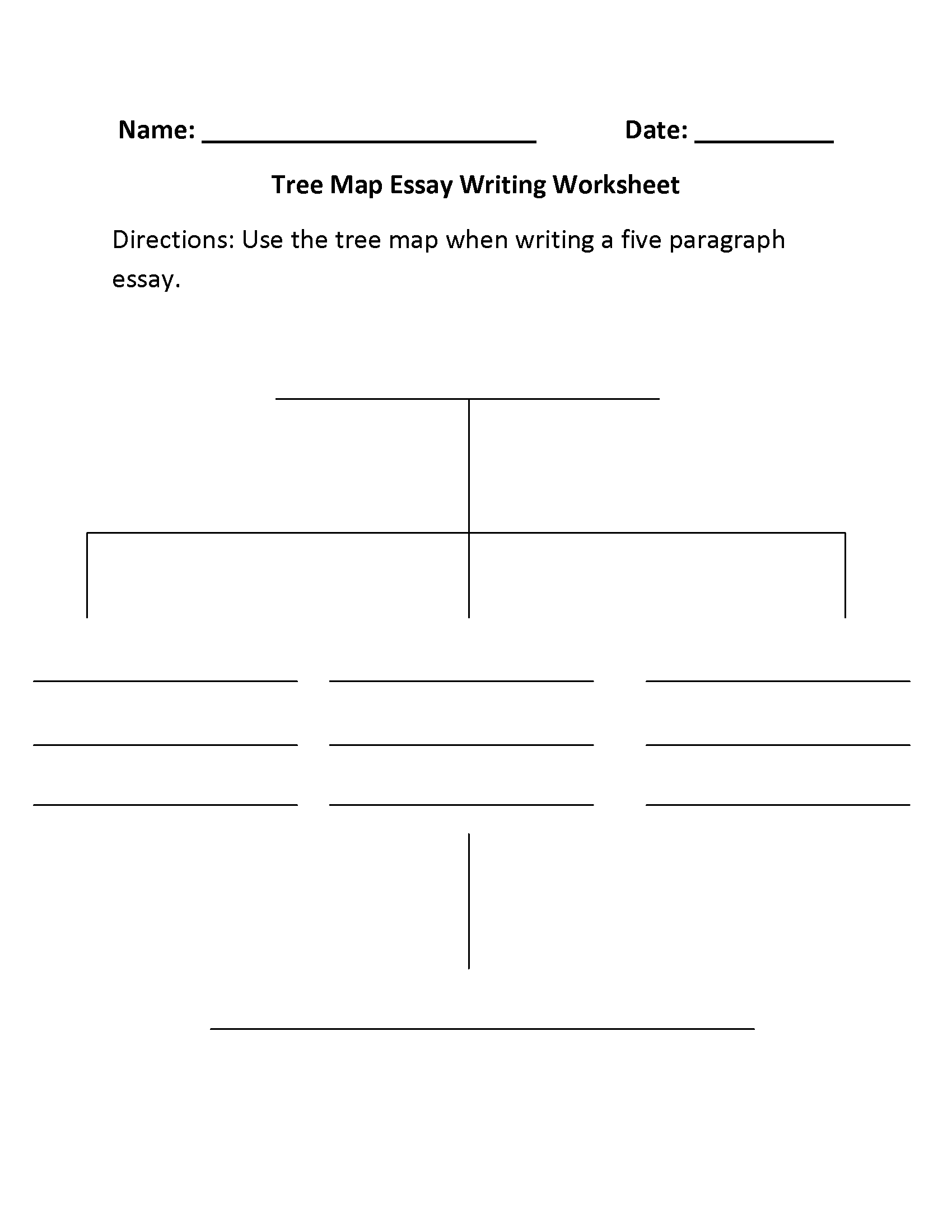 Essay Writing Skills Worksheet