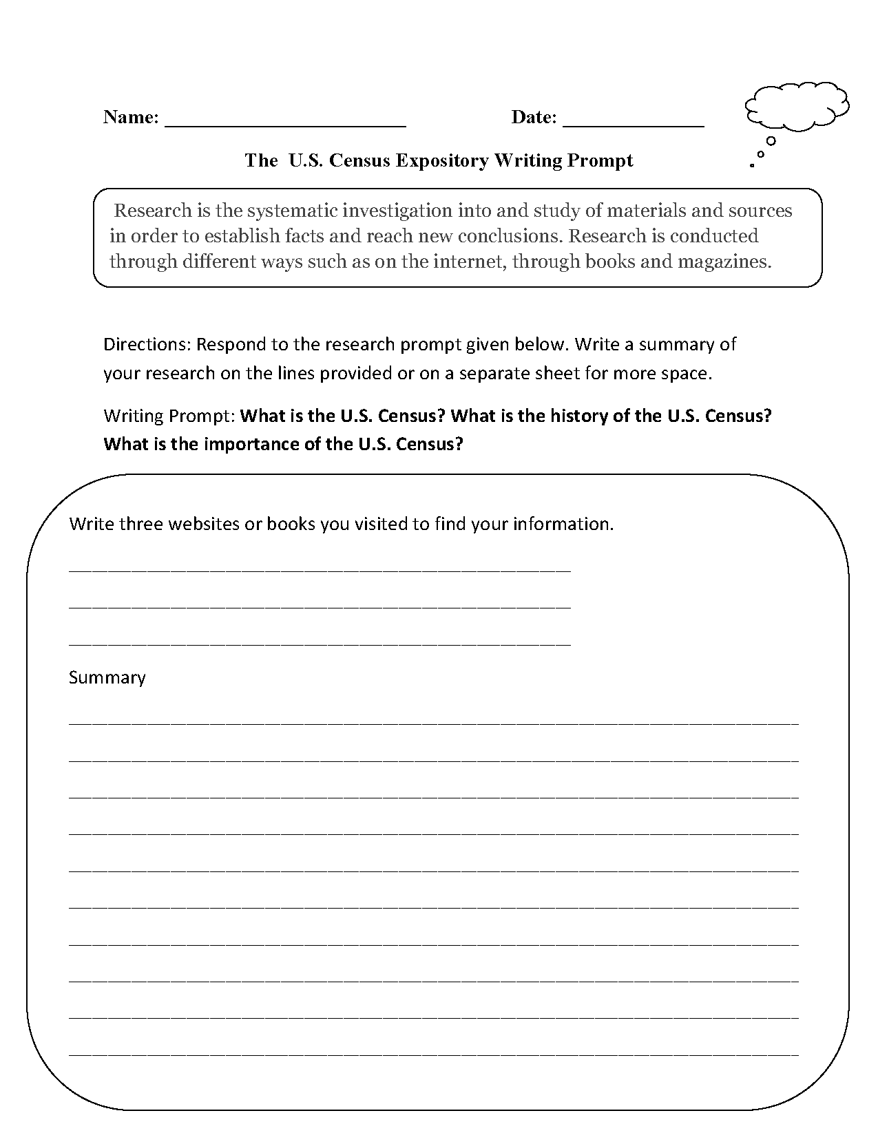 Expository Essay Prompts 6th Grade