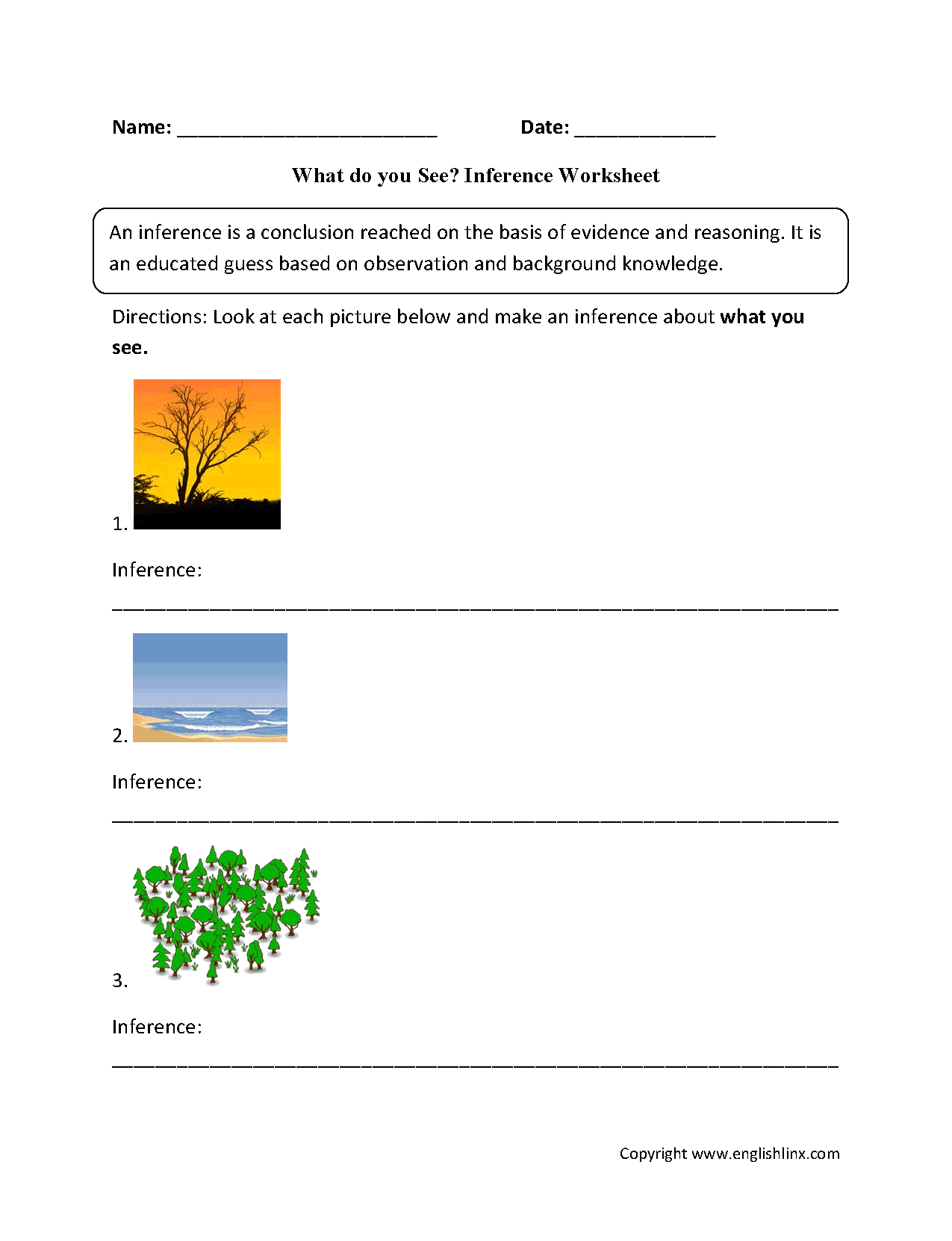 Inference Worksheets 2nd Grade