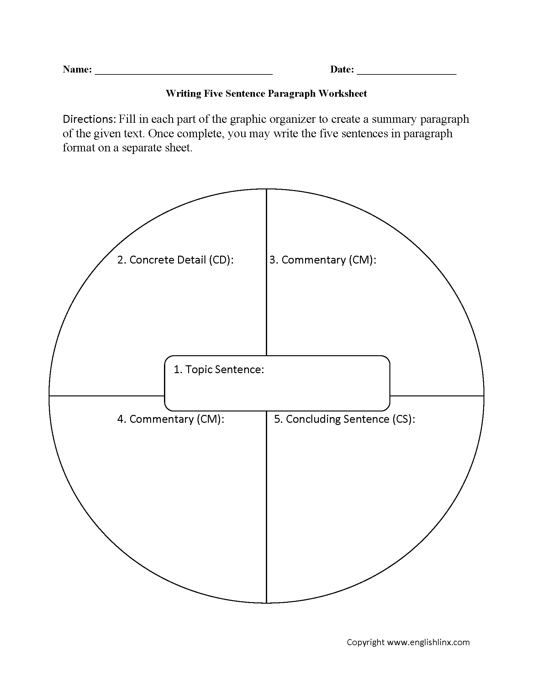 Narrative Paragraph Samples Worksheets Narrative