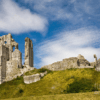Corf Castle with cloudy blue sky