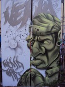 Another work in the free graffiti space in Friedrichshain