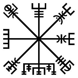 Vegvisir Germnic Nordic Norse Racial Symbol