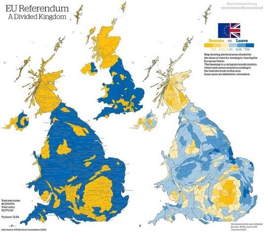 Brexit Vote Map
