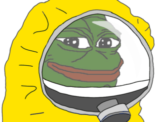 Hazmat Suit Pepe Transparent Background