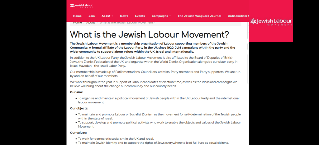 Jewish Influence in the Labour Party