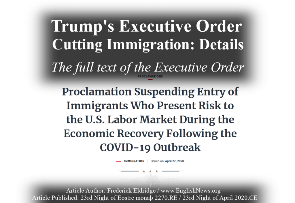 Trump Executive Order on Immigration Full Text